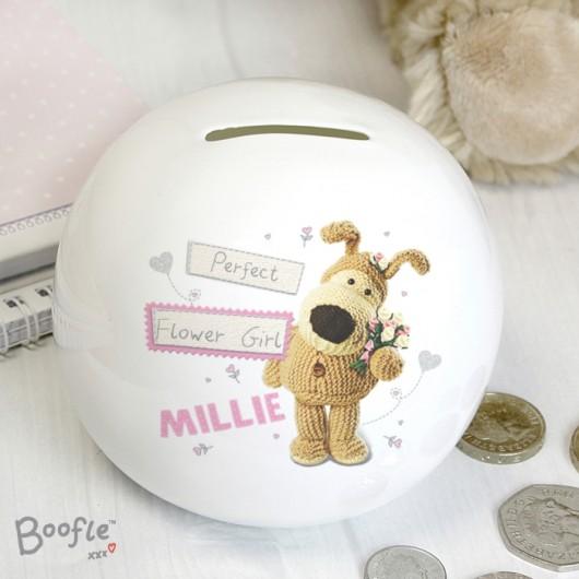 Boofle Girls Personalised Wedding Money Box