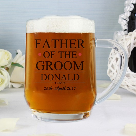 Father of The Groom Personalised Tankard