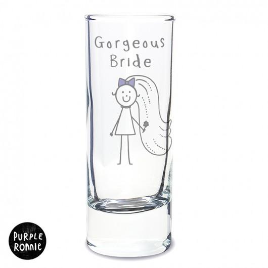 Purple Ronnie Bride Shot Glass