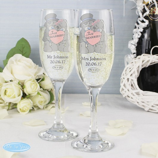 Me To You Pair of Wedding Flutes