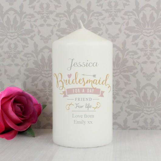 I Am Glad... Personalised Bridesmaid Candle