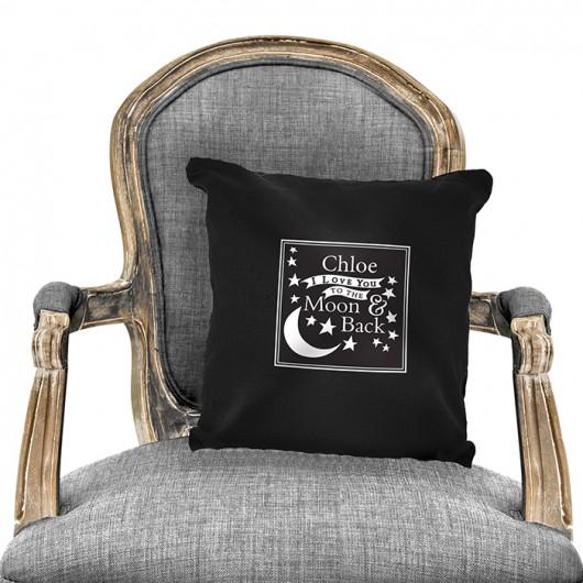 Moon & Back Black Cushion Cover