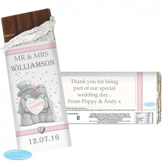 Me To You Wedding Couple Chocolate Bar