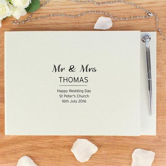 Personalised Classic Guest Book & Pen