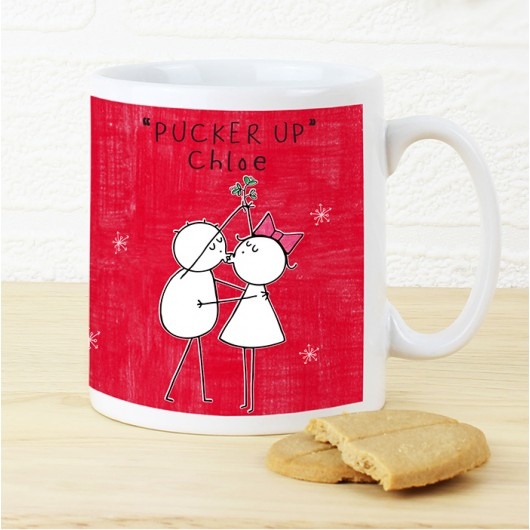 Purple Ronnie Christmas Couple Mug