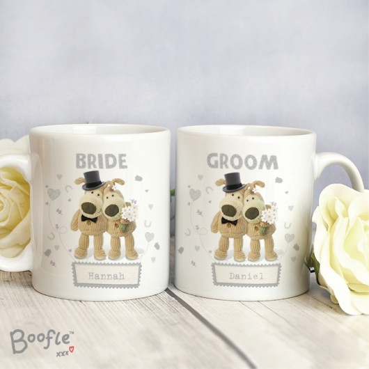 Boofle Wedding Couple Personalised Mugs