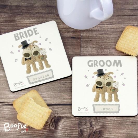 Boofle Personalised Wedding Coaster Set