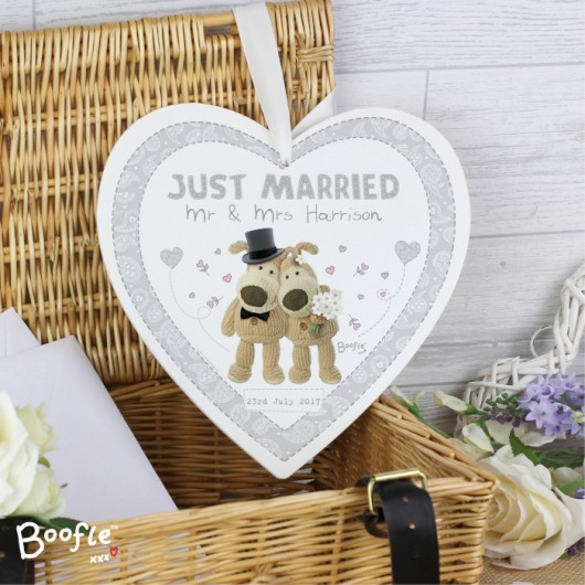 Boofle Personalised Wooden Heart Decoration