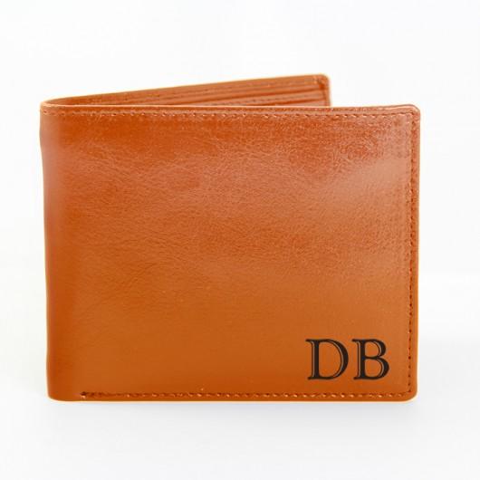 Personalised Brown Initials Wallet