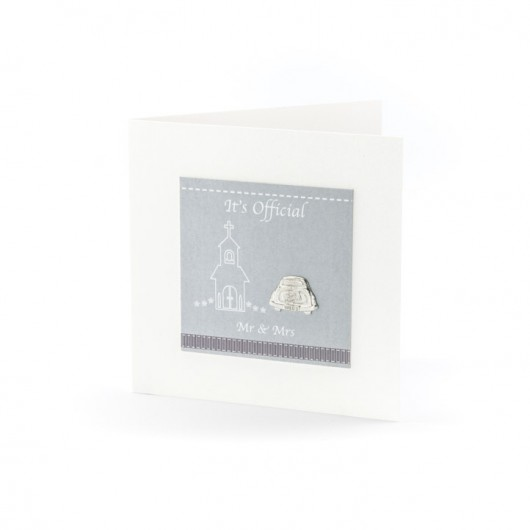 Mr & Mrs - Pewter Keepsake Card