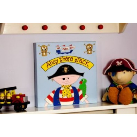 Personalised Little Swashbuckler Canvas