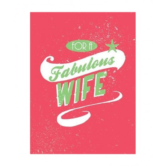 For A Fabulous Wife Book