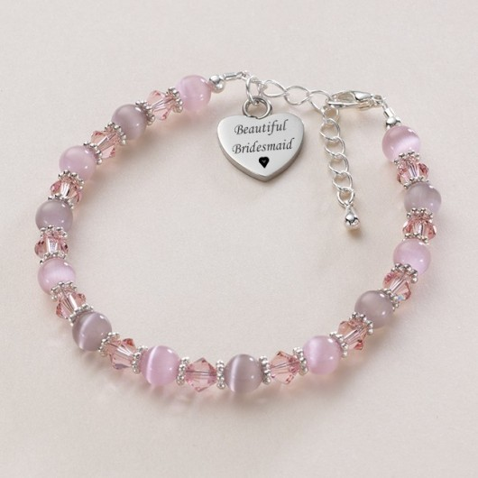 Sparkly Bracelet with Engraved Heart
