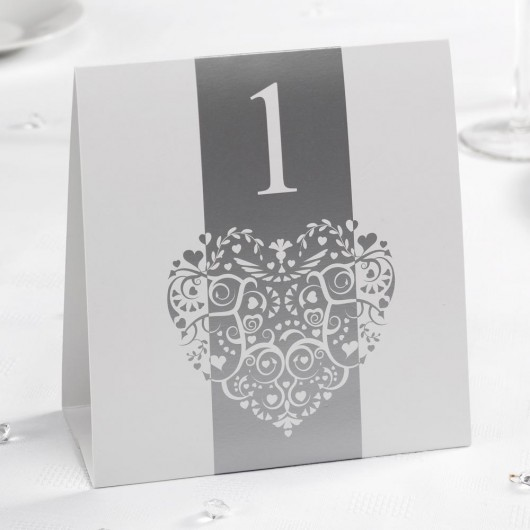 Vintage Romance Table Numbers