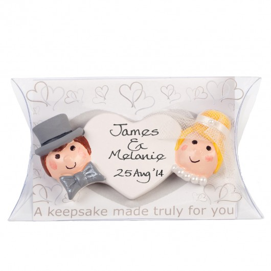 Bride And Groom Personalised Wedding Keepsake