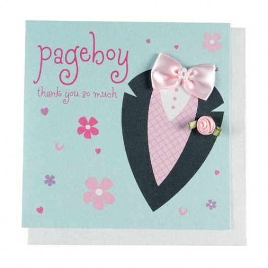 Fasionista Page Boy Thank You Card
