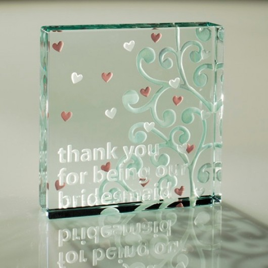 Thank you Bridesmaid Paperweight Keepsake