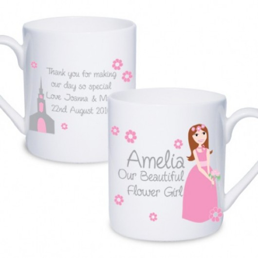 Fabulous Flower Girl Mug - Personalised