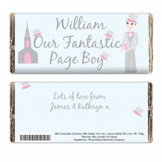 Fabulous Personalised Page Boy Chocolate Bar