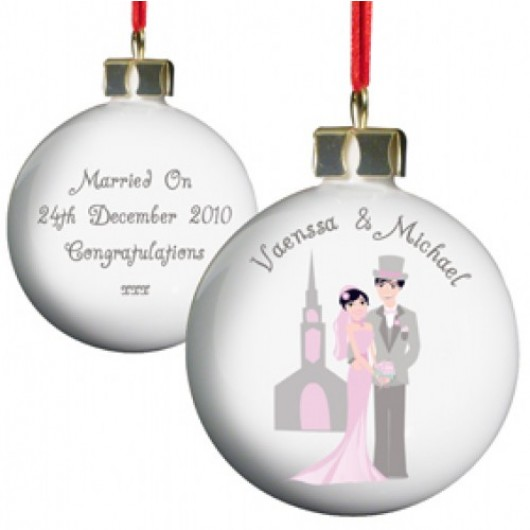Personalised Fabulous Wedding Bauble