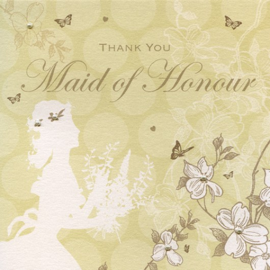 Enchanted Days Maid of Honour Thank You Card