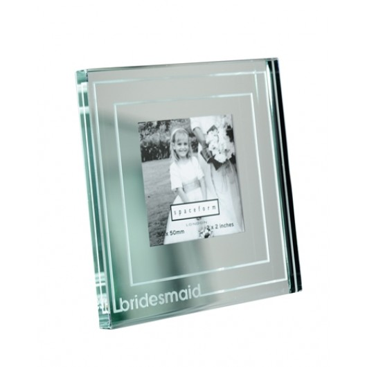 Classic Stripe Mini Mirror Bridesmaid Photo Frame