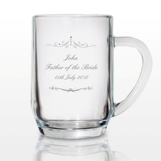 Personalised Ornate Swirl Tankard Pint Glass