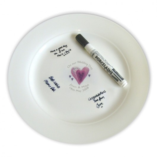 Personalised Hearts Message Plate