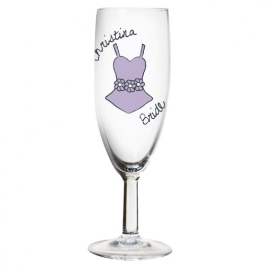 Personalised Dotty Champagne Flute