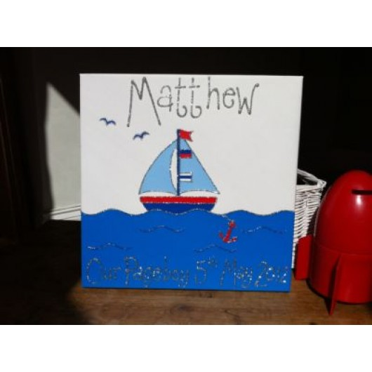 Personalised Sailor Canvas