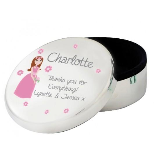 Fabulous Personalised Round Trinket Box