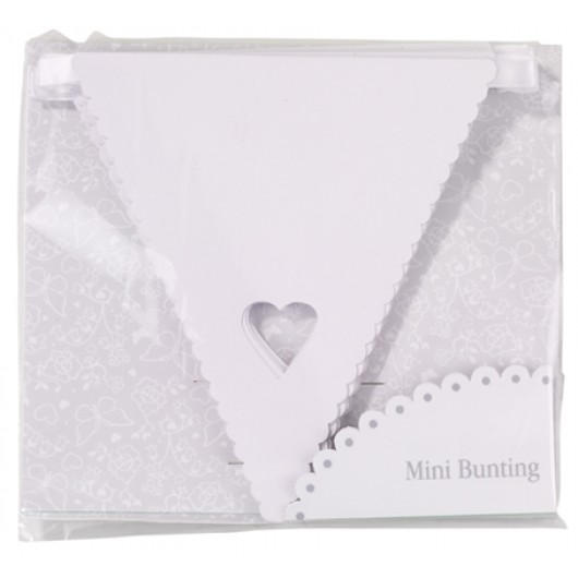 Something in the Air Heart Bunting - White