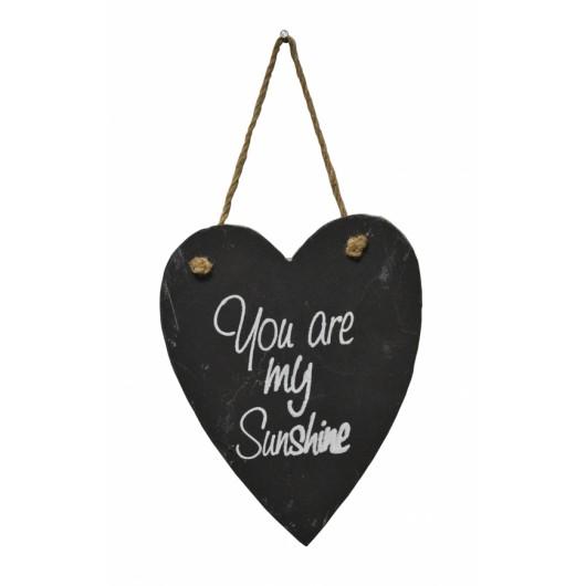 You Are My Sunshine Slate Heart
