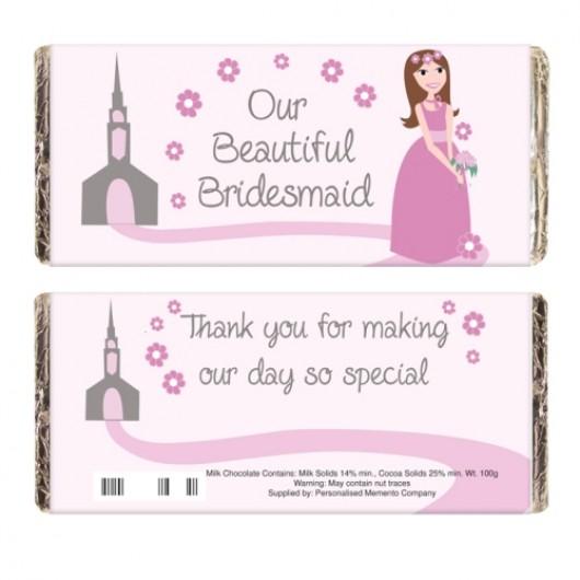 Fabulous Bridesmaid Chocolate Bar