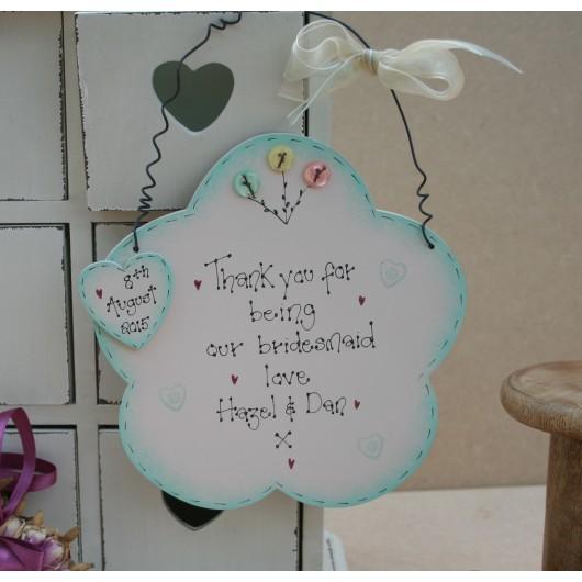 Handmade Wooden Flower Girl or Bridesmaid Sign