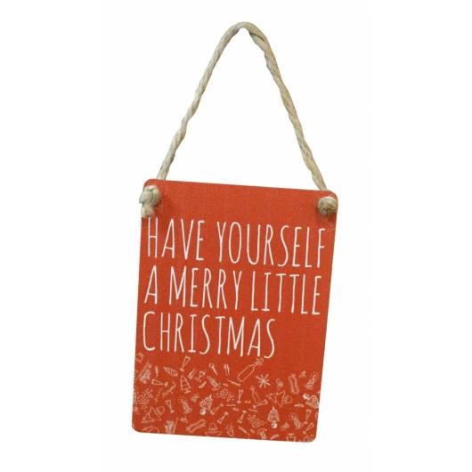 Merry Little Christmas Mini Sign