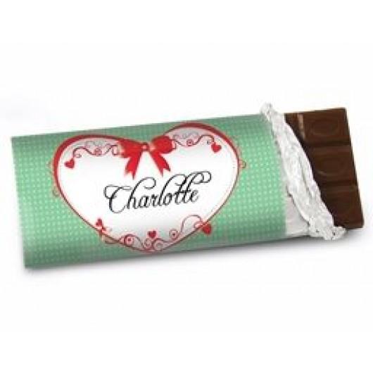 Personalised Chocolate Bar - Red Ribbon