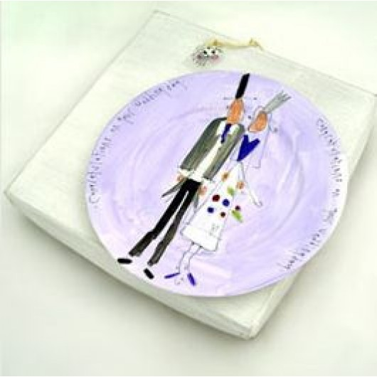 Wedding Day Plate by Mootiful
