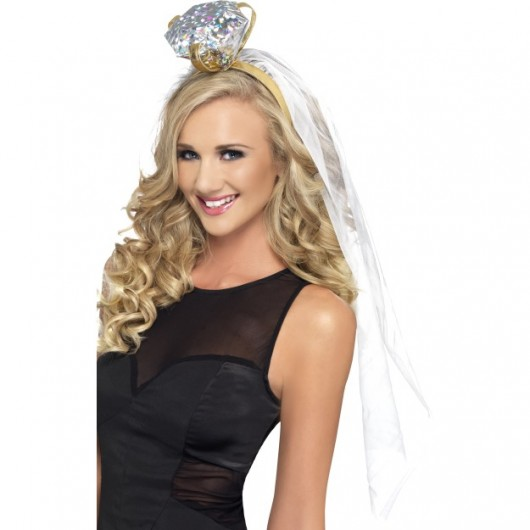 Hen Night Ring Headband (White)