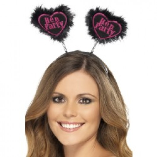 Hen Party Love Heart Boppers (Black)