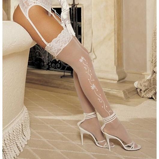 Wedding Bell Sheer White Stockings