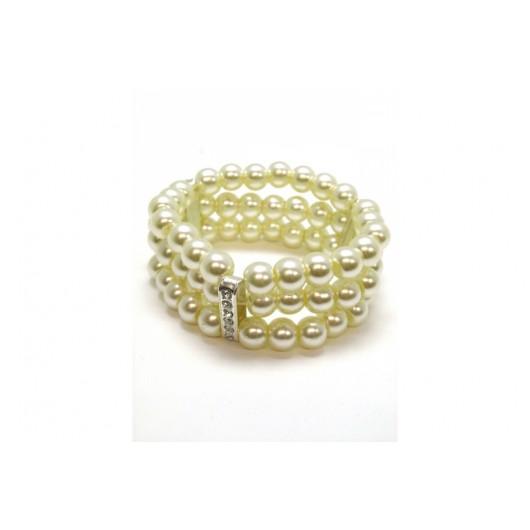 Pearl Crystal Elasticated Bracelet