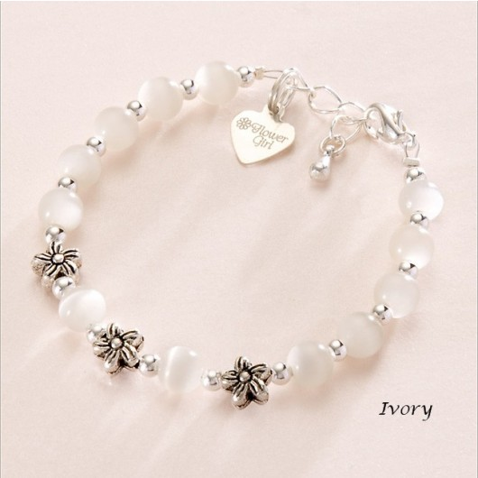 Flower Girl Bead Bracelet