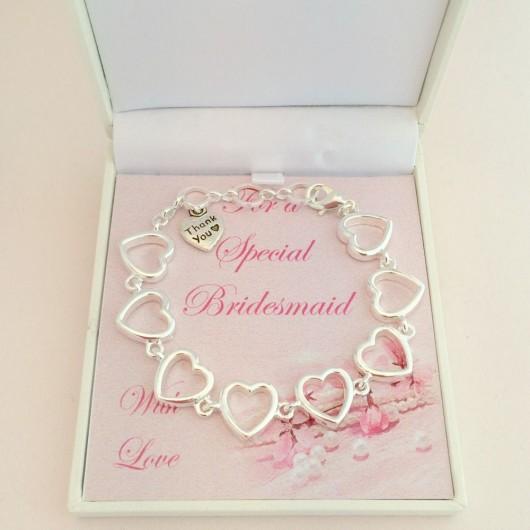 Thank you Heart Bracelet
