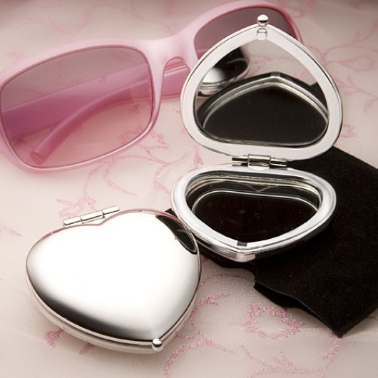 Heart Compact -- Personalised with an Engraved message