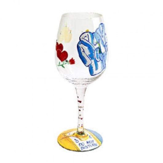 Lolita Do Not Disturb Wine Glass