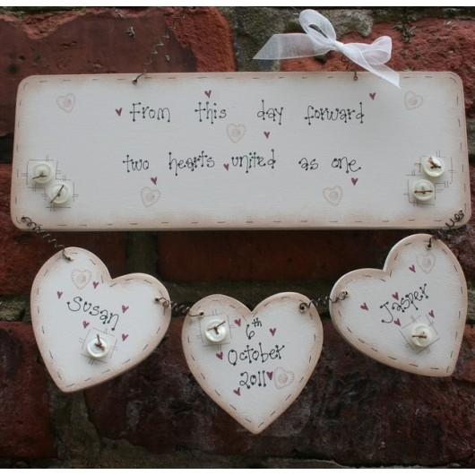 Personalised Handmade Wedding Plaque