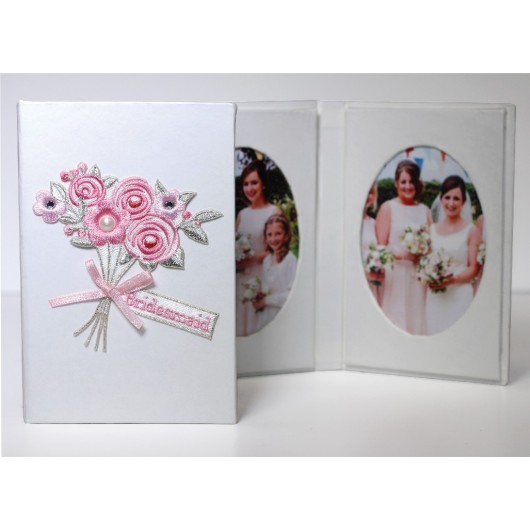 Bridesmaid Bouquet Oval Photo Frame