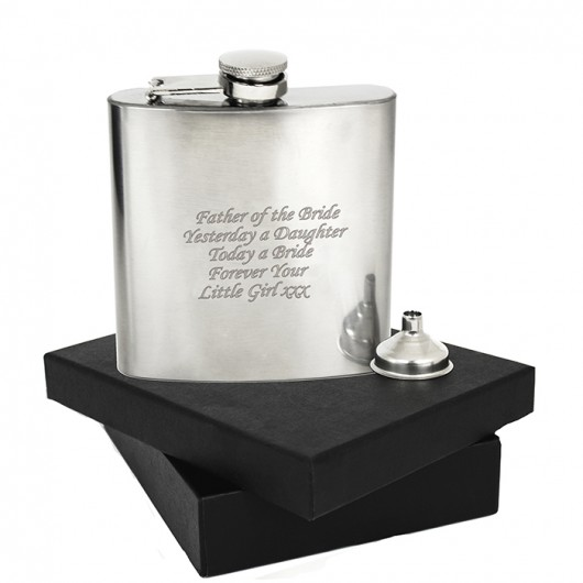 Personalised Steel 6oz Hip Flask