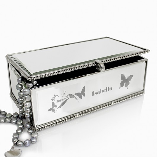 Butterfly Personalise Jewellery Box
